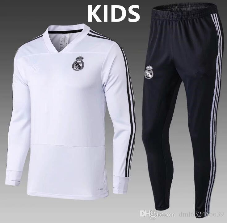 11d141641 Top Quality 2018 2019 Real Madrid Kids Football Jacket Chandal ...