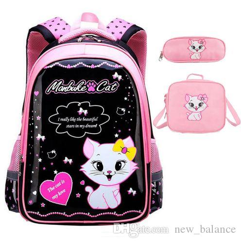 8544640bd3 Sweet Cat Girl S School Bags Cartoon Pattern Kid Backpack Children School  Backpack Girl Bag School Bags For Kids Girls School Bags From New balance