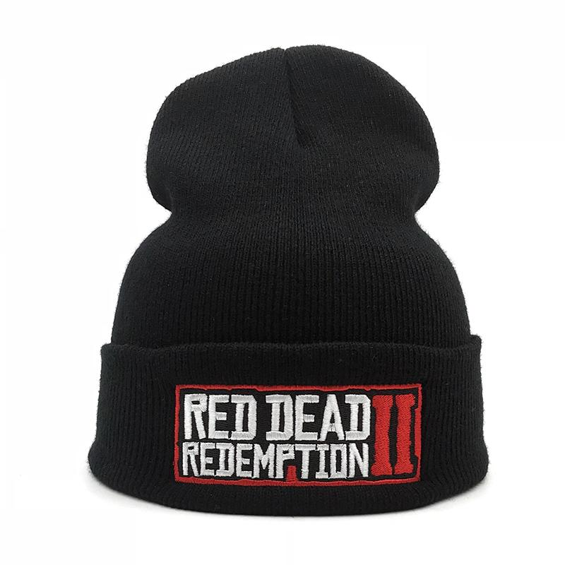Hot game Red Dead Redemption 2 Hat High quality embroidery Cap women Beanie Fashion Knitted men Winter hat Fall winter Warm Gift