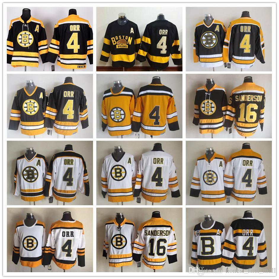... cheap 2019 men stitched boston bruins 4 bobby orr jersey 16 derek  sanderson vintage ccm 75th 776217222