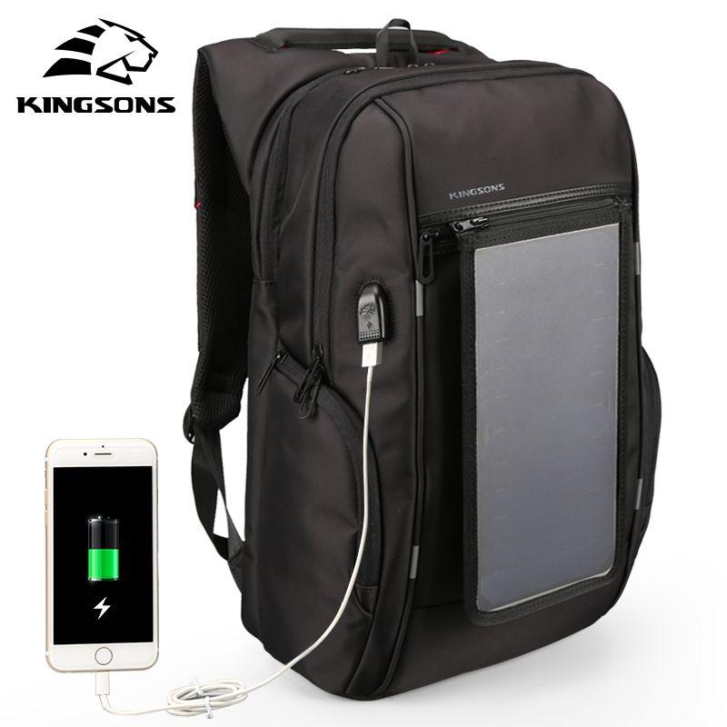 669936360e Acquista Zaini Pannelli Solari Di Kingson 15.6 Pollici Convenience Charging  Laptop Bags For Travel Caricabatterie Il Giorno Zaini Y1890401 A $81.32 Dal  ...