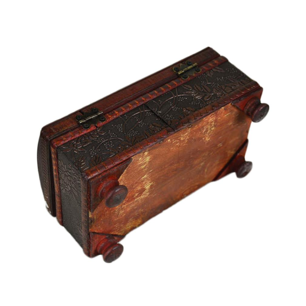 Tissue Box Elegant Crafted Wooden Antique Handmade Old Antique Paper Box Packing Holder 21*12*11cm