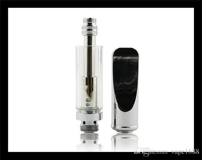 Vape cartucho aberto vaporizador dual wick bobina de aquecimento 510 cera de óleo grosso co2 óleo vape tanque tanque de vidro tubo de plástico embalagem dhl livre