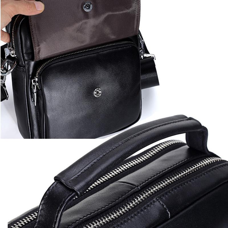 Vertical Designer Men Genuine Cow Leather Handbag Top-handle Bags Male Clutch Fashion Briefcase Messenger Shoulder Crossbody Bag