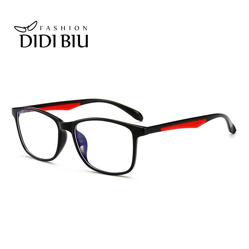 1381e4cdf6 DIDI Rectangle Anti Blue Ray Gaming Glasses Women Vintage TR90 ...