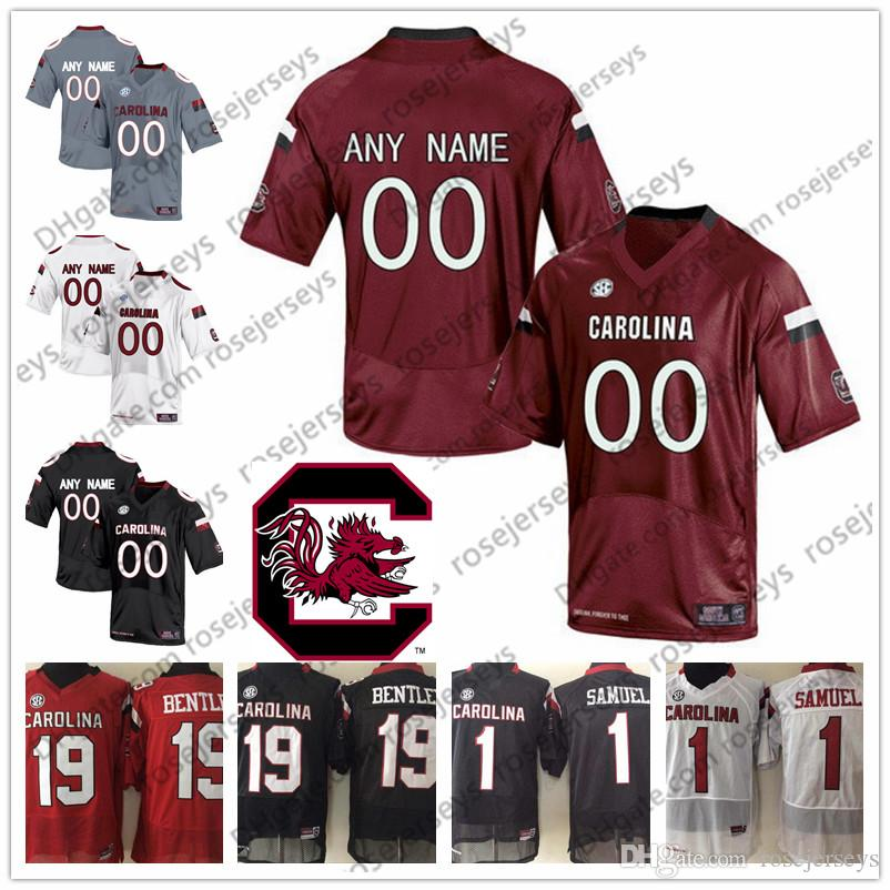 2019 Custom South Carolina Gamecocks College Football White Black Red  Stitched Any Name Number 19 Jake Bentley 1 Deebo Samuel NCAA Jerseys S 3XL  From ... d3d1debe1