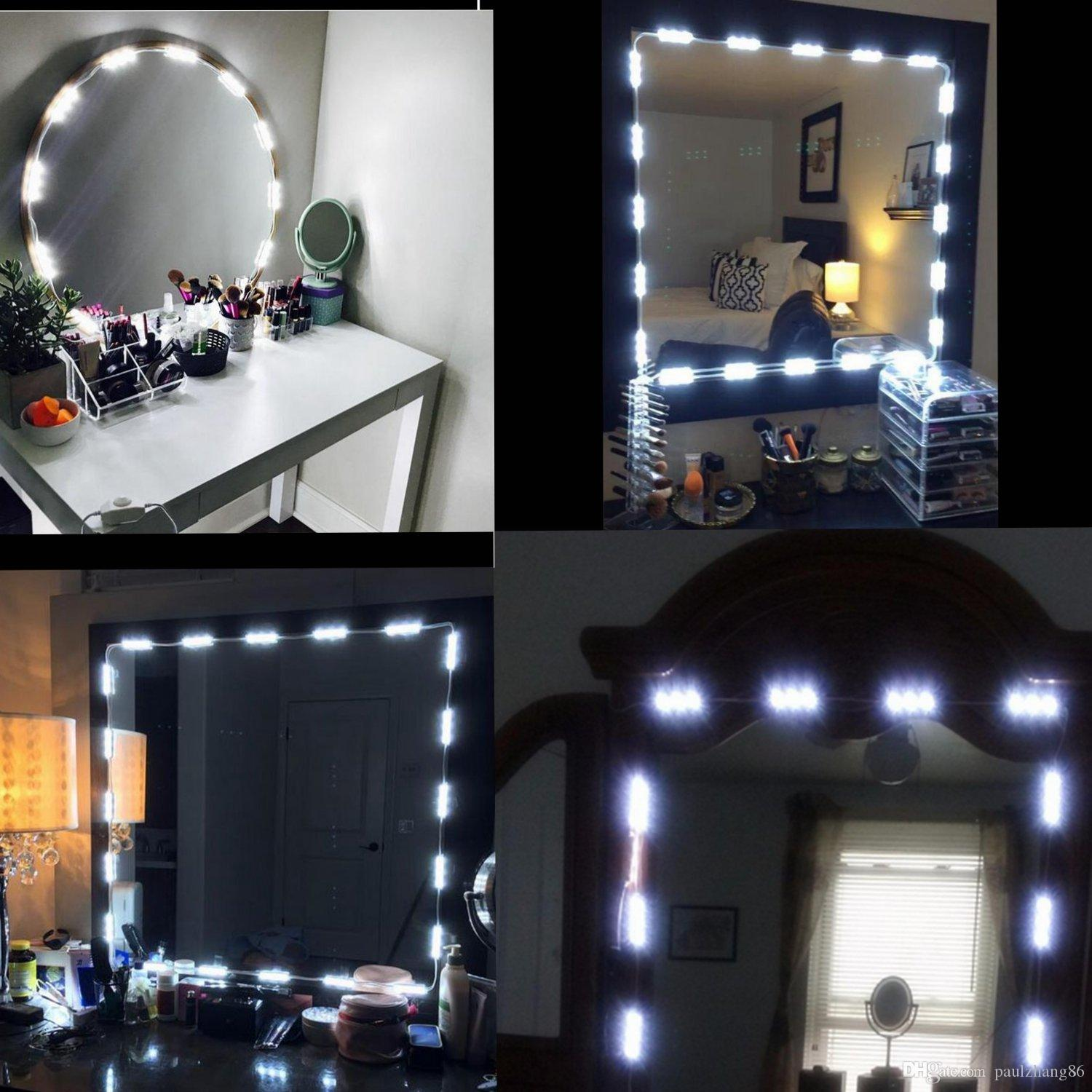 2019 Makeup Vanity Mirror Lights Dimmable 60 LEDs 9.8FT DIY LED Make Up Light Kit 2800LM For Cosmetic Mirrors/Kitchen With Remote From Paulzhang86, ...