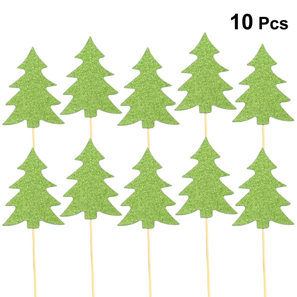 Christmas Tree Cake Topper Dessert Cake Insert Card Christmas