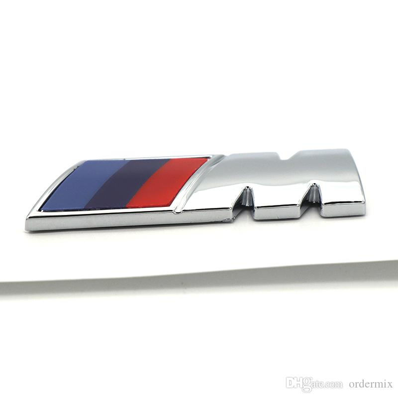 ABS Car M Power Performance Badge Fender Sticker For M BMW E46 E39 E60 E90 E36 E30 F30 F10 E53 E91 E92 E87 M3 M5 M6 X3 X5