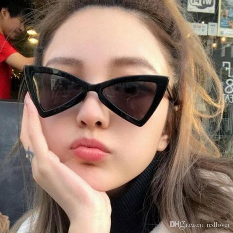 2018 fashion triangular sunglasses women men cat eye brand designer luxury retro ladies. Black Bedroom Furniture Sets. Home Design Ideas