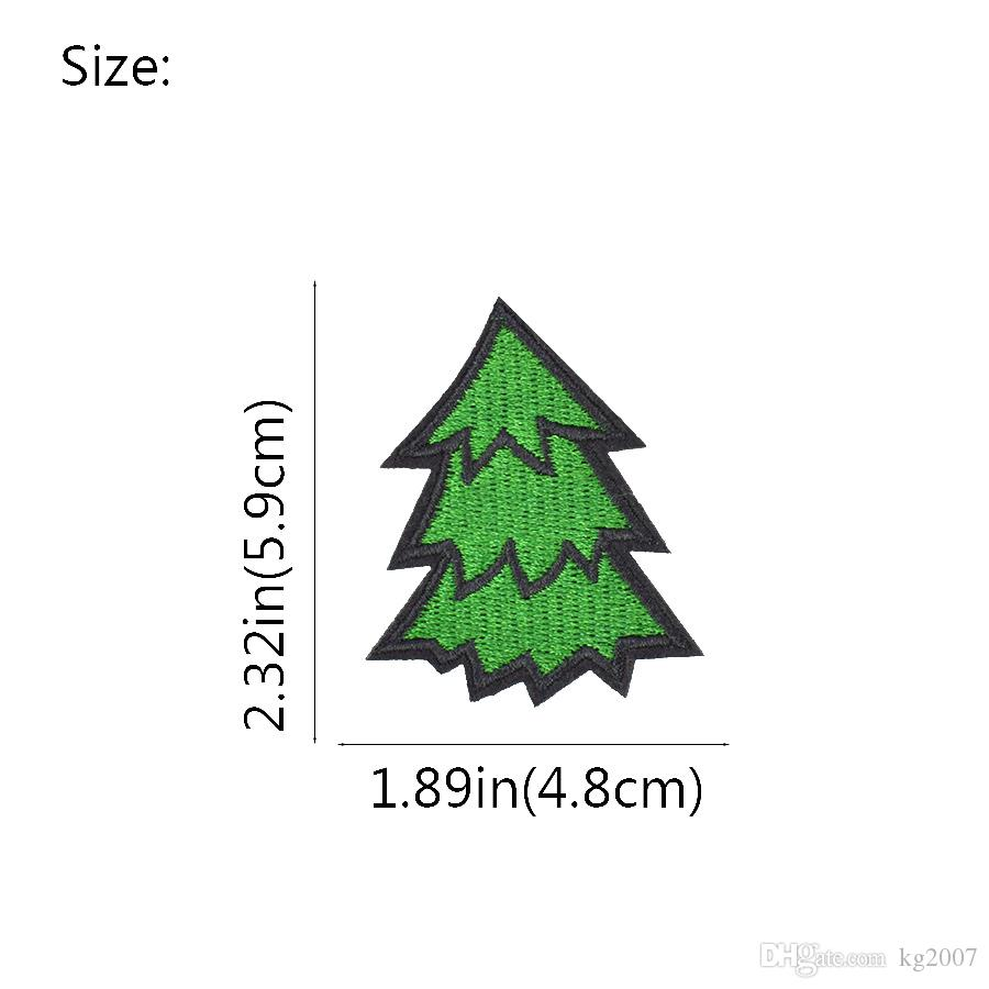 Diy Green Tree Fabric Badge Apparel Patches for Applique Cute Patch Iron Applique Garment Patch for Clothes Sew Embroidery Accessories