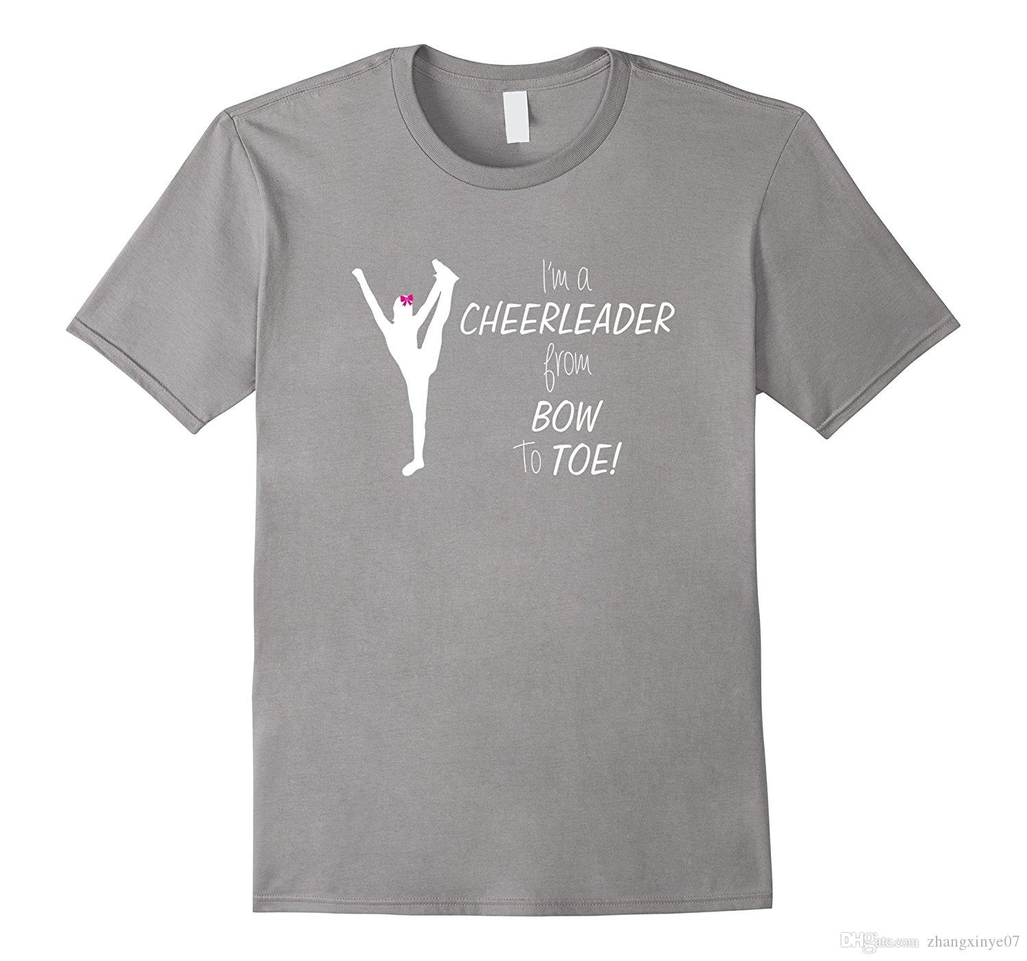 Cheer T Shirt Designs | Cheerleader T Shirt Bow To Toe White Letter Cheer Tee Long Sleeve