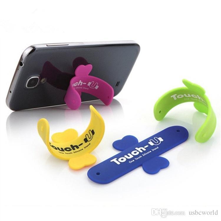 Mini Touch U One Touch Silikon Ständer Fingerringe Universal Portable Handyhalter für Smartphone