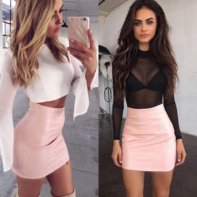 leather mini skirt Hot