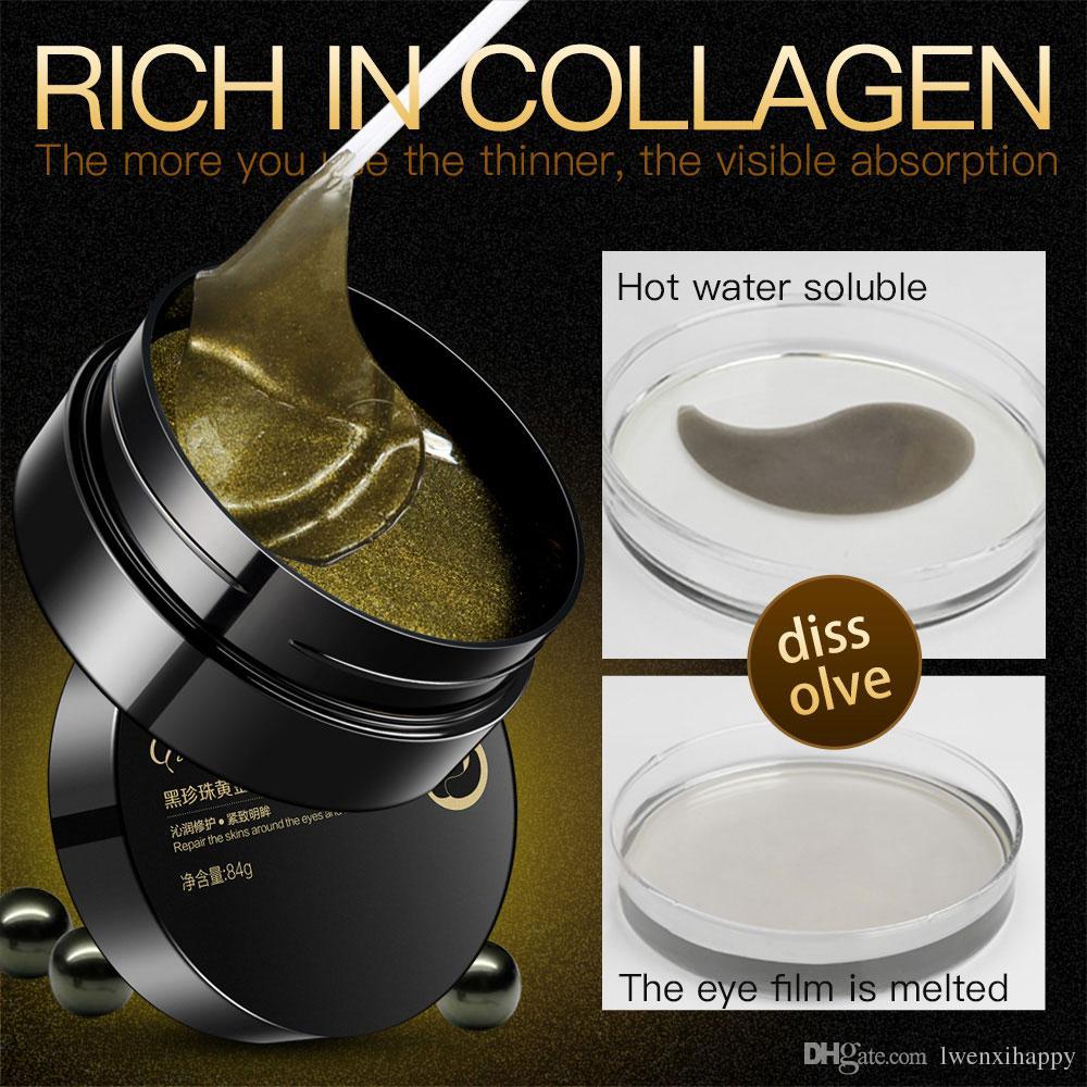 30 pares Pérola Collagen Eye Mask Círculos pálpebra Patch anti rugas escuras Nutrir