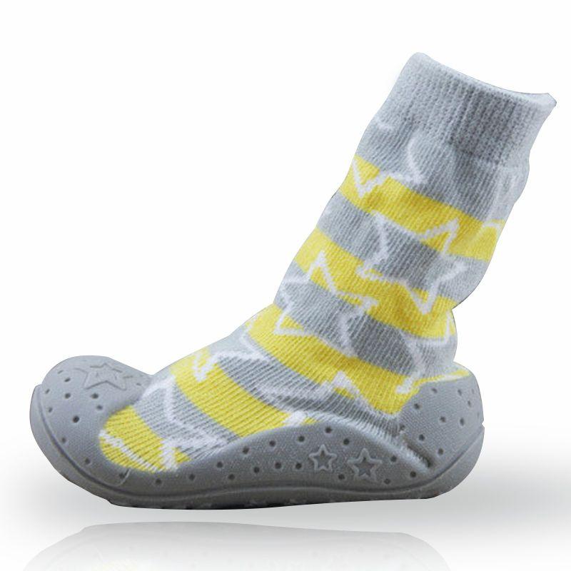 0eebb57df Compre Calcetines Antideslizantes Para Bebés Recién Nacidos Con Suelas De Goma  Para Niños Zapatos Para Niños Pequeños Andadores Calcetines De Algodón Para  ...
