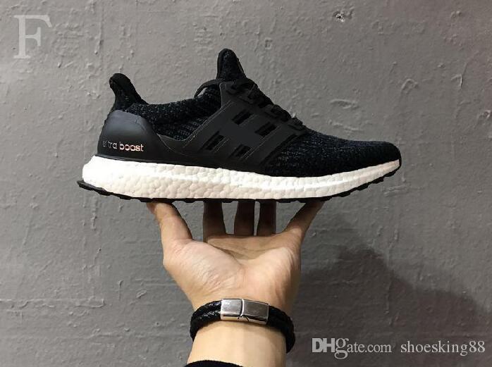 Высокое качество Ultraboost 3.0 4.0 кроссовки Мужчины Женщины Ultra Boost 3.0 III Primeknit работает белый черный спортивные кроссовки 36-47