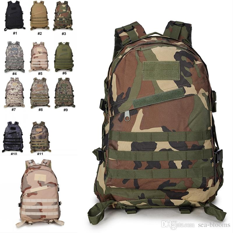 adac938fbd11 Backpacks Camo Military Army Double Shoulder Tactical Backbag Waterproof 3D  Tourist Rucksack Climbing Bag Support FBA Drop Shipping G576F