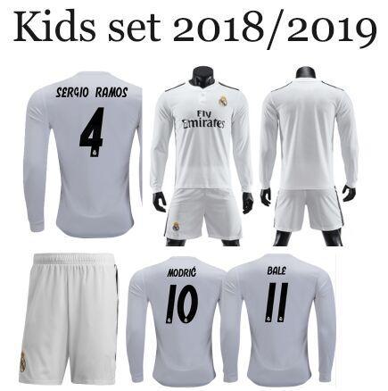 Compre Real Madrid Crianças De Manga Comprida Camisas De Futebol 2019  Equipaciones De Futbol Camisetas Realmadrid Fc Maillots De Pé Kits De  Futebol 2018 19 ... a0aa4882787f7
