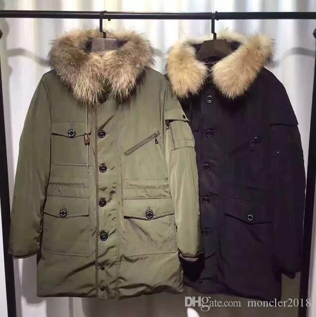 Großhandel Winter New Design Herren Fell Kapuze Warme Jacke Berühmte Marke  Designer Hochwertige Männer Daunenmantel Plus Größe Männer Von Moncler2018,  ... 4abc7657fa