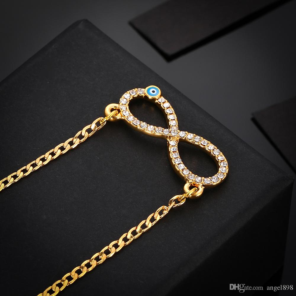 Fish Eye Pendant Crystal Muslim Pendant Copper Gold Plated 18K Islamic Religious Supplies Export Middle East Hot Style