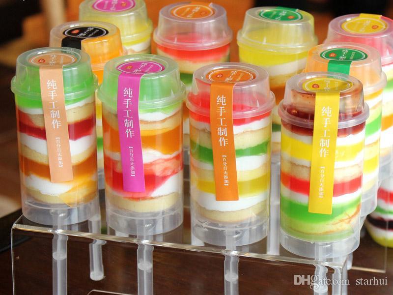 Más recientes Cake Push Pop Containers Hornear Addict bareware Clear Push-Up Cake Pop Shooter Push Pops Envases de plástico WX9-638