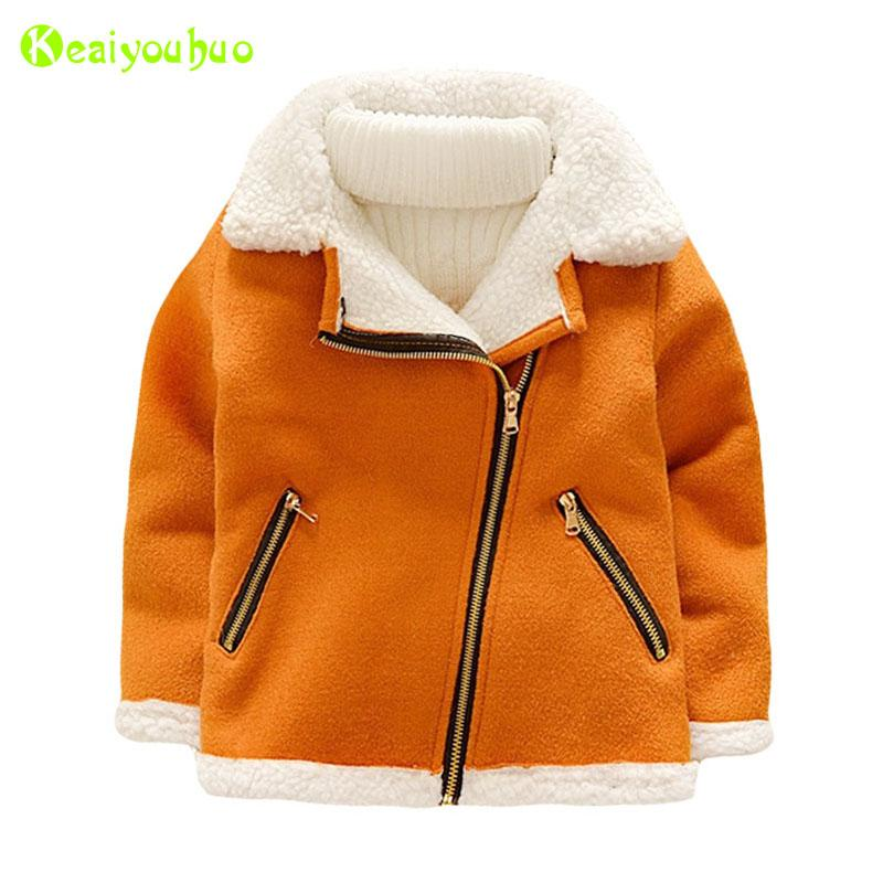 KEAIYOUHUO Baby Coats and Jacket 2017 Autumn Winter Girls Jacket For Boys Jackets Kids Warm Wool Outerwear Coat Children Clothes