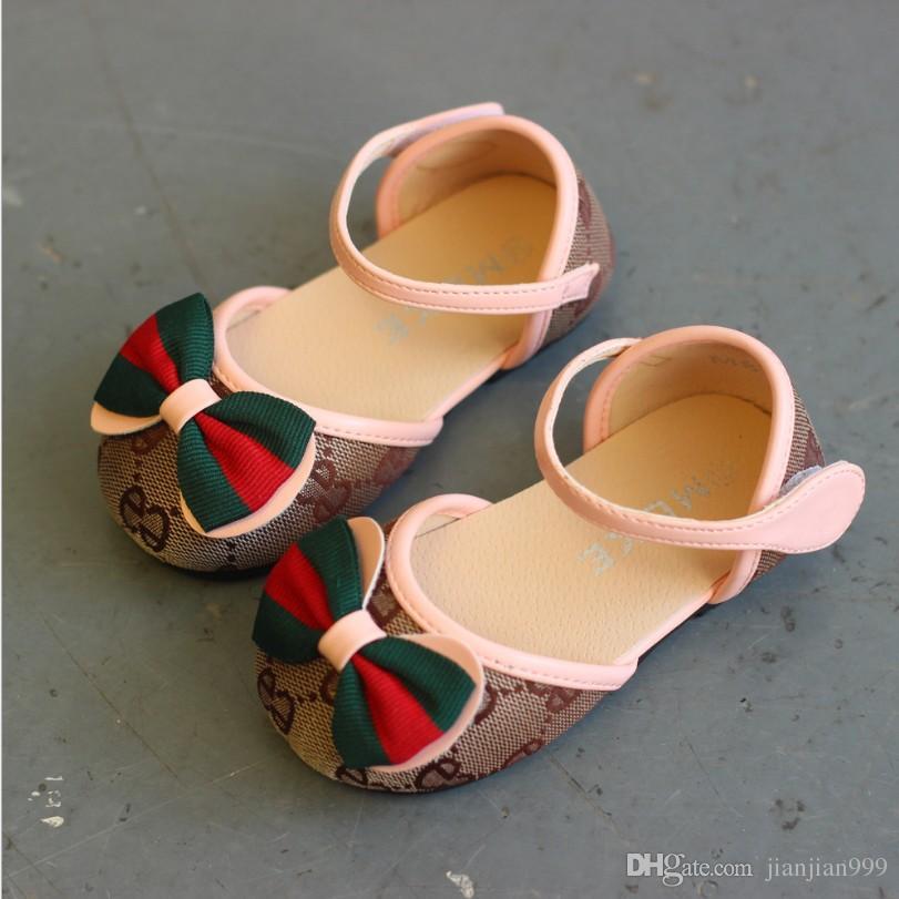 1b2ce7a1a672c Acheter Nouvelles Sandales En Toile Pour Enfants Printemps Et Automne  Chaussures De Princesse Des Filles Coréennes Chaussures Bébés Pour Enfants  Chaussures ...
