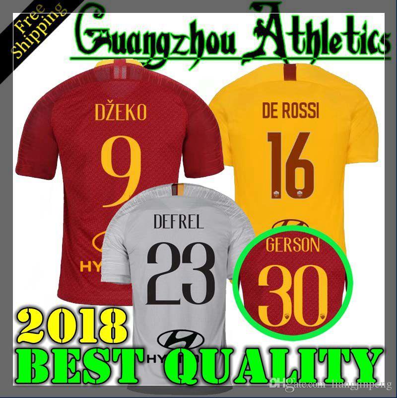 b3abe3f4a 2019 18 19 Roma Soccer Jerseys 2018 2019 DZEKO Jersey TOTTI Football Jersey  DE ROSSI Maglie EL SHAARAWY Football Shirt NAINGGOLAN Maillot S XL From ...