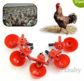 6 AUTOMATIC WATERER DRINKER CUPS WITH NUT O-RING /& WASHER CHICKEN COOP POULTRY