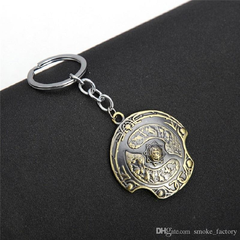 DOTA 2 Immortal Champion Shield Keychain Aegis Of Champions Vintage Retro  Antique Bronze Color Keyring Zinc Alloy Key Chain Ring Wholesale Keychain  Password ...