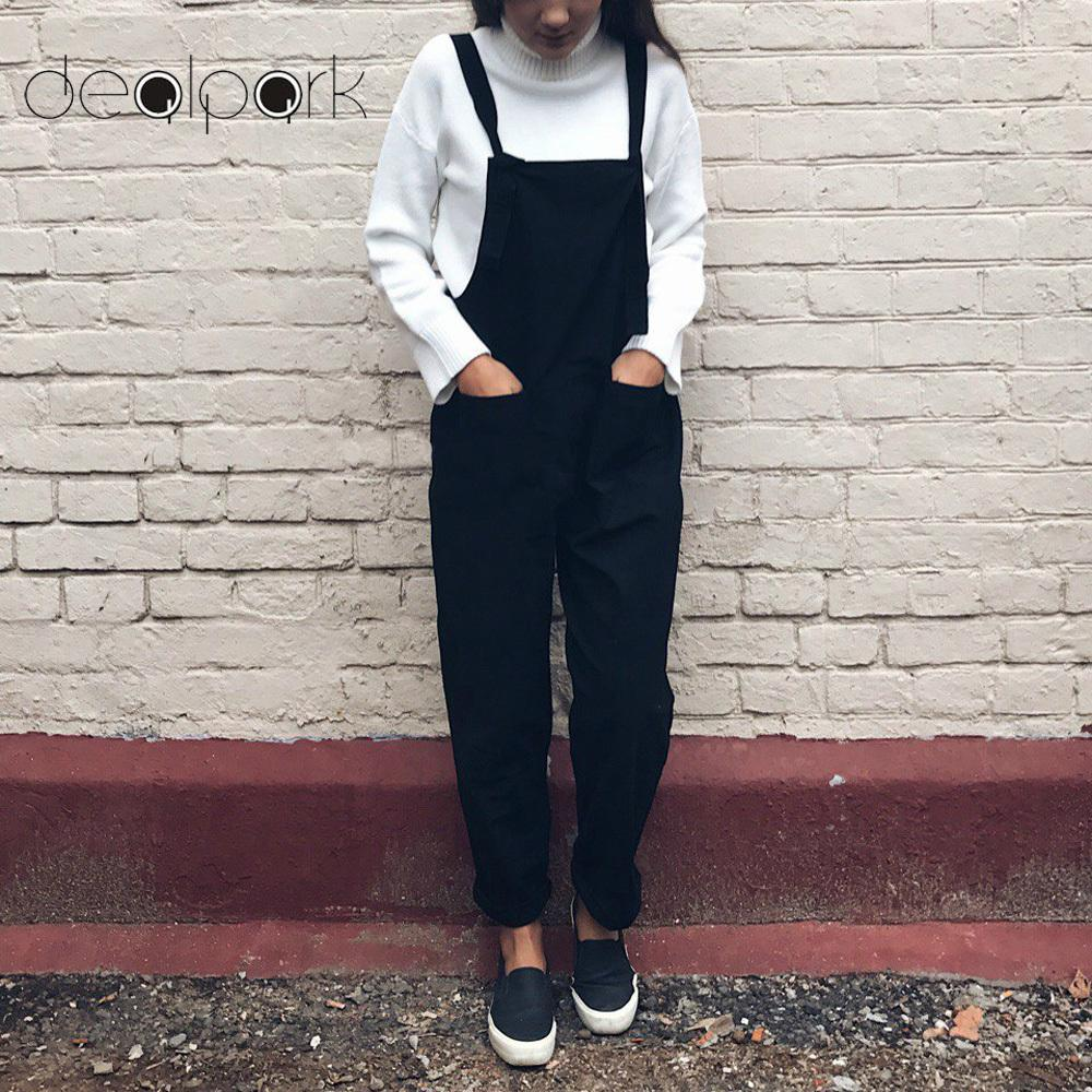 4d2de10cb98f6 Plus Size 3XL 4XL 5XL Rompers Women Jumpsuit Oversize Overalls Solid Sleeveless  Pockets Wide Leg Pants Casual Dungarees Playsuit Y1891808 UK 2019 From ...