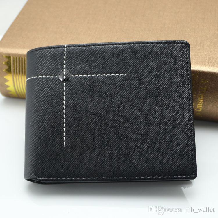 Men\'s New Luxury MB Genuine Leather Business Card Case Black Short ...