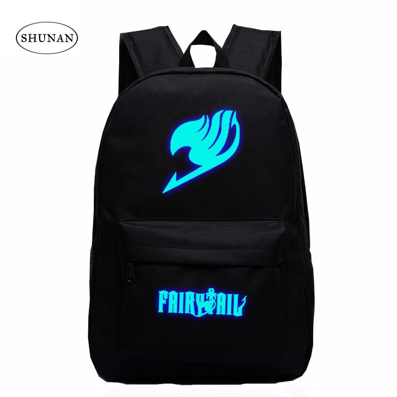 4f0ce76673 2016 Japan Anime Printing Backpack Cute Fairy Tail Backpack School Bag For  Teenagers Luminous Galaxy Nylon Travel Bags Swiss Army Backpack Black  Leather ...