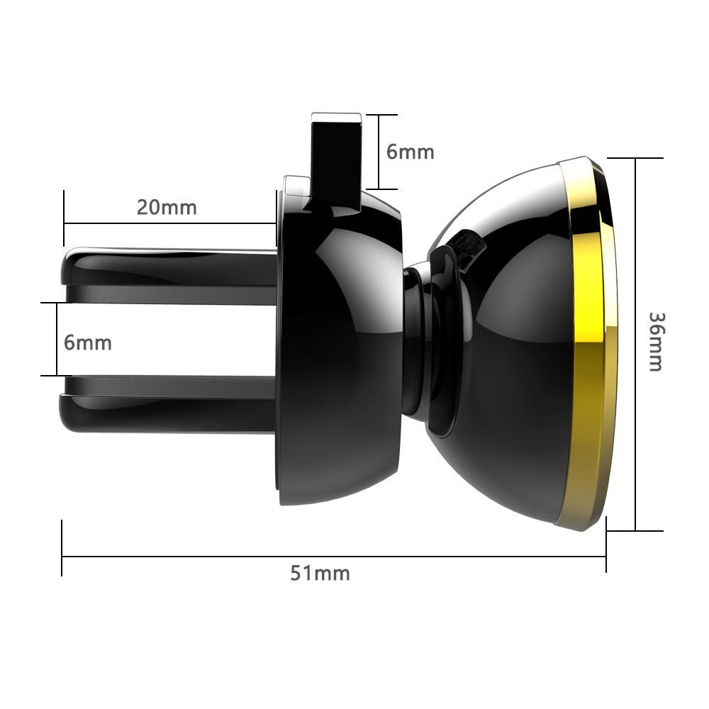 Neueste Starke Magnetische Auto Air Vent Mount 360 Grad-umdrehung Universal Handyhalter Mit Paket Für Handy