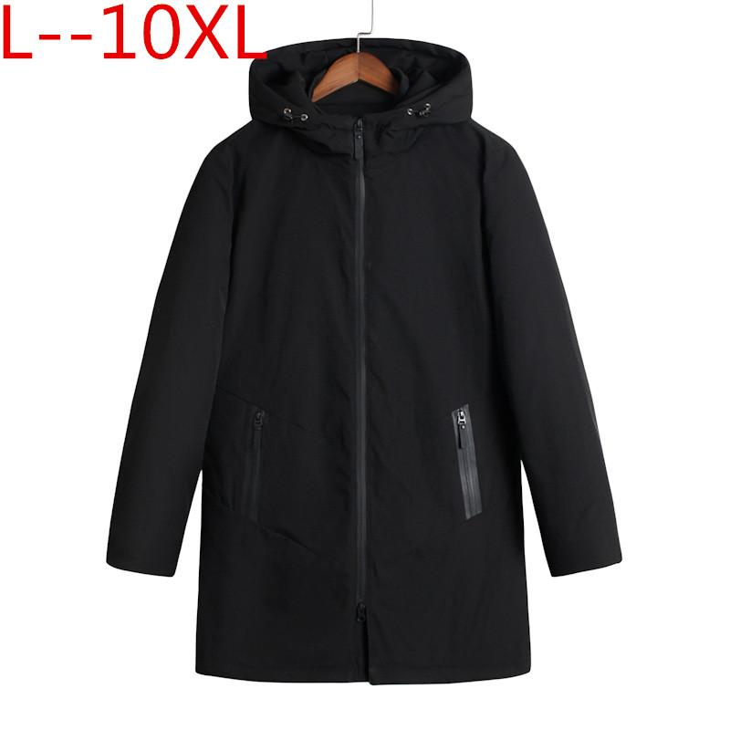 10XL 8XL 6XL Winter Men Parka Jacket Long Coat Male Thick Cotton-Padded Jacket High Quality Parka Coat Male Fashion Casual Coats