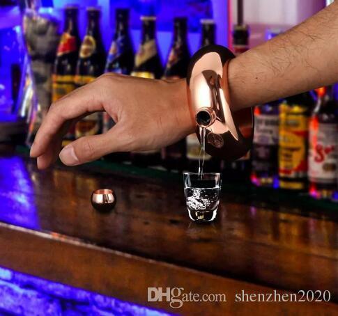 الإسورة سوار الورك قارورة 3.5 أوقية 304 الفولاذ المقاوم للصدأ قوس قزح السائل الكحول الفودكا ويسكي Drinkware الكحول القمع