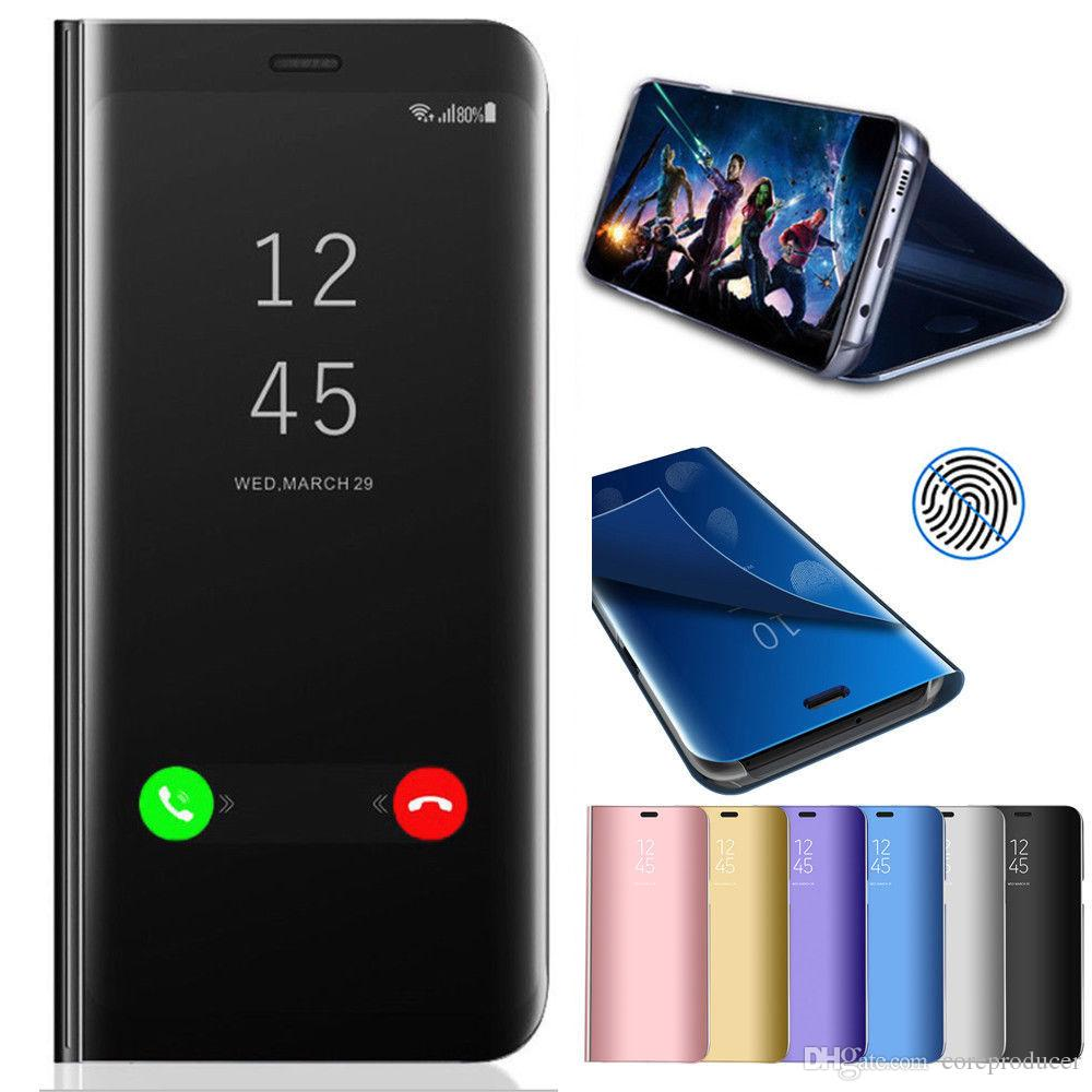 Mirror Case For Samsung Galaxy S9 S8 Plus Note 8 Smart Flip Stand Holder  Leather Cover For IPhone X 8 7 6 Plus Cheap Cell Phone Cases Designer Phone  Cases ... 74949d0caf54