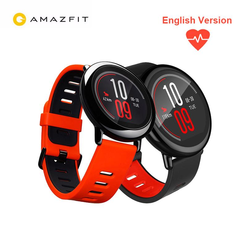 diseño de calidad fdb3f d26fe Versión en inglés Xiaomi Amazfit Pace Reloj inteligente GPS Frecuencia  cardíaca Impermeable Bluetooth Deportes Smartwatch para teléfonos con  Android ...