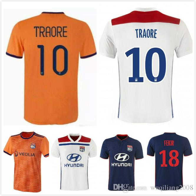 Best TRAORE 18 19 Olympique Lyonnais Home Soccer Jersey White ABILY ... 744fc575e