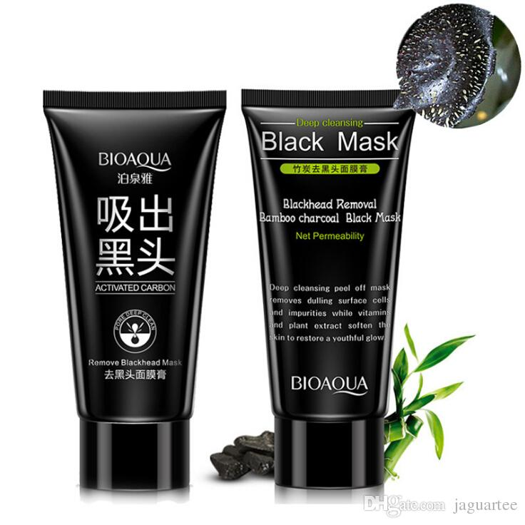 BIOAQUA Facial Blackhead Remover Deep Cleaner Mask Nose Mask Suction Treatments Black Head Mask 60g