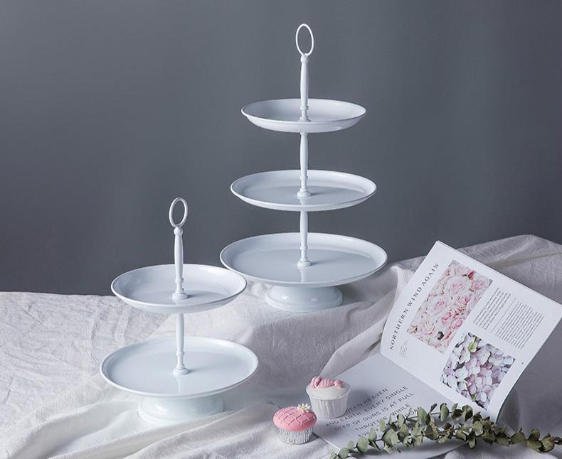 2019 Europe Simple White Dessert Table Decoration Iron Birthday Cake Plate Wedding Multilayer Stand From Liuyanggarden 4564