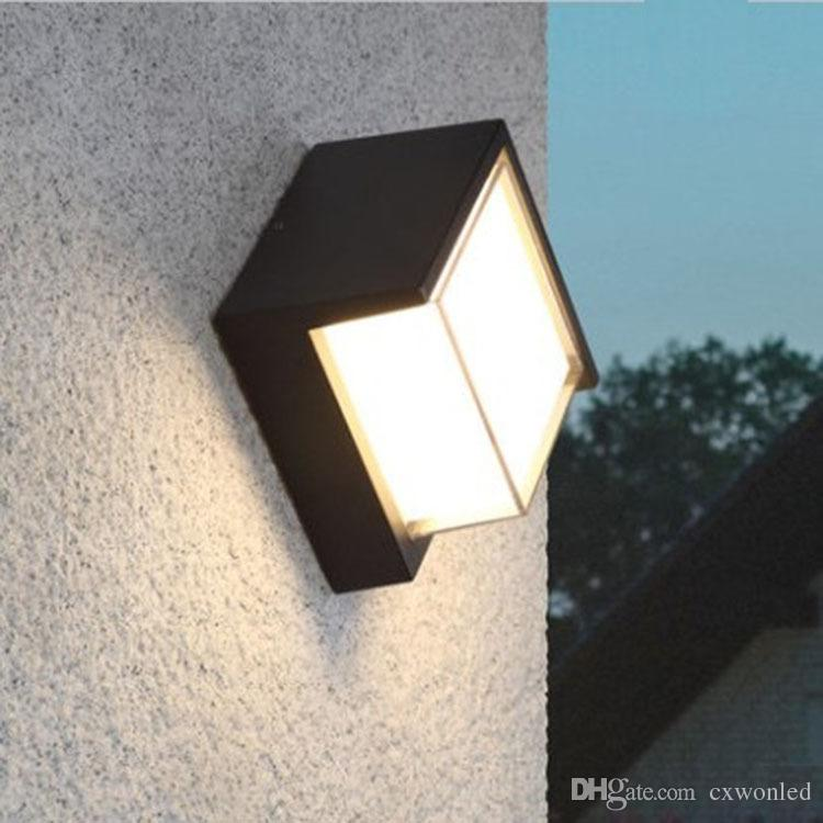 10w Corridor Lamp Outdoor Wall Lamp Modern Wall Sconce Outdoor Light Fixture Black Grey Aluminum Material Waterproof Round And Square Light