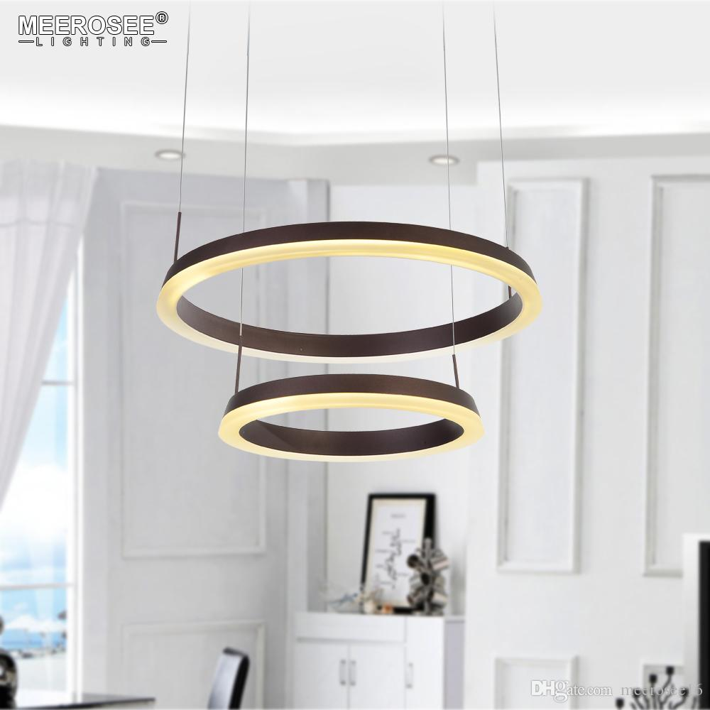 Modern Acrylic Led Pendant Light Fixture Luminaire Suspendu For Living Dining Room Lustre Lamparas De Techo Hanging Home Lighting Metal Lights