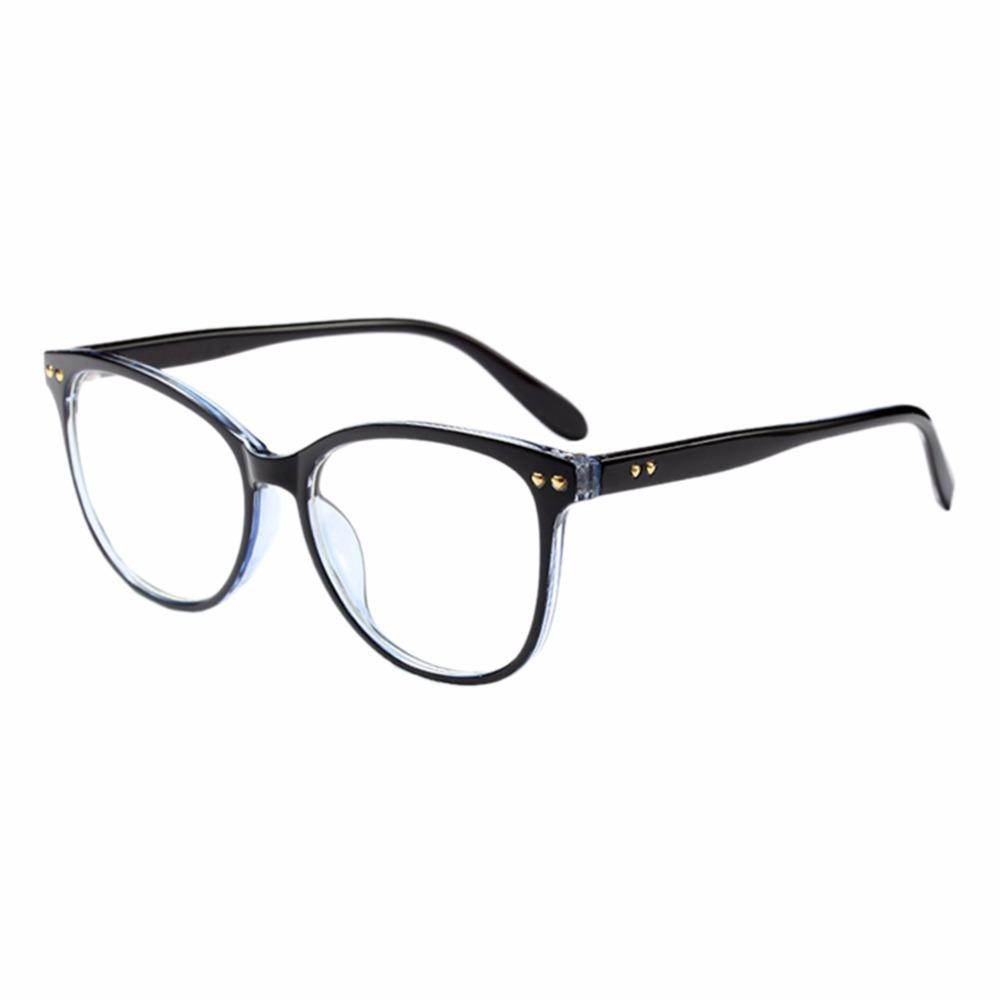 97eacd33e3 Women Oversized Personality Oval Frame Optical Eyewear Vintage Full Frame  Clear Lens Glasses UV400 Non-prescription Goggles