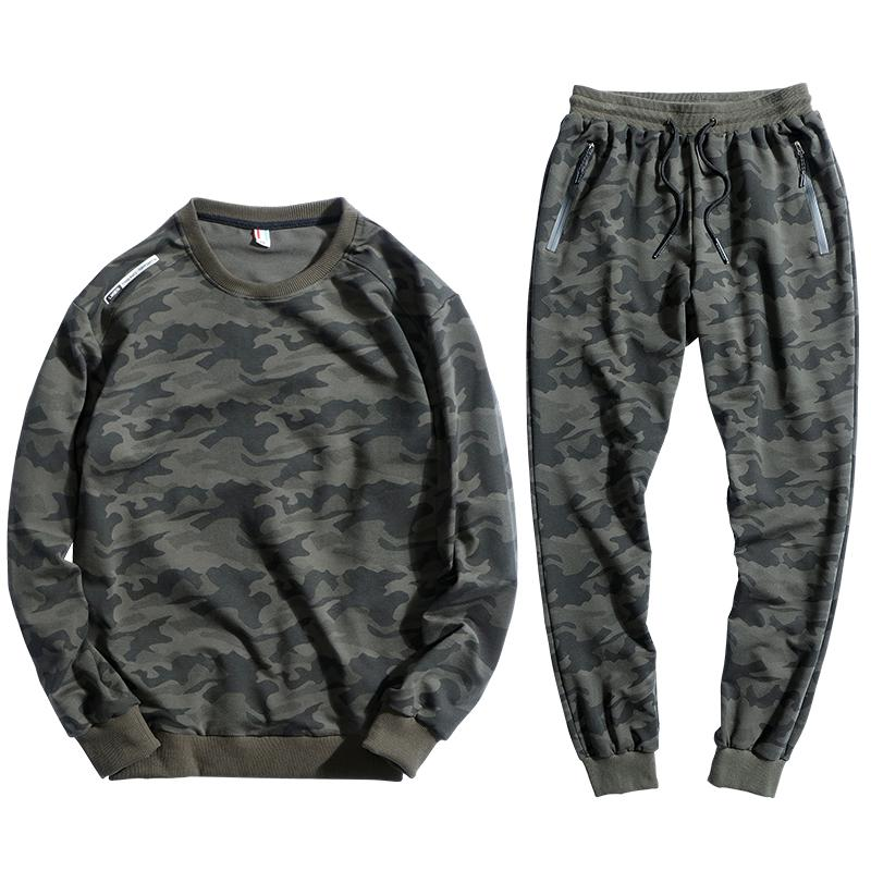 f70e8faeb3e6 2019 145kg Can Wear Sport Suit Men Loose Sportswear Camouflage Hip Hop Sweatshirt  Set Cotton Sportsuit 8XL 9XL Run Gym Hoodies Sets From Teahong, ...