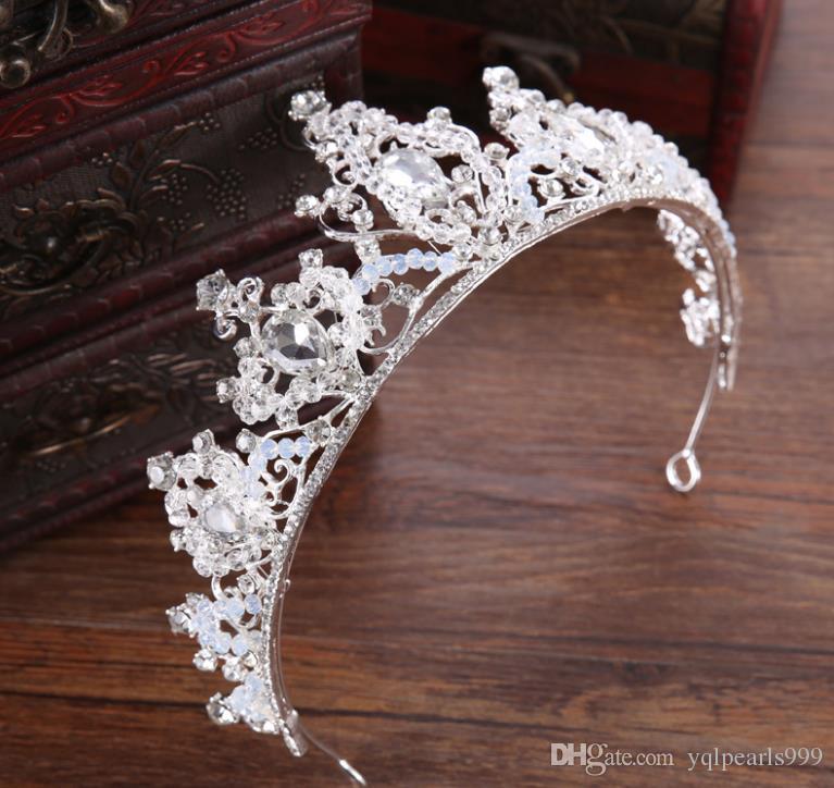 Gelinler taç düğün çember taç süsleme alaşım elmas taç