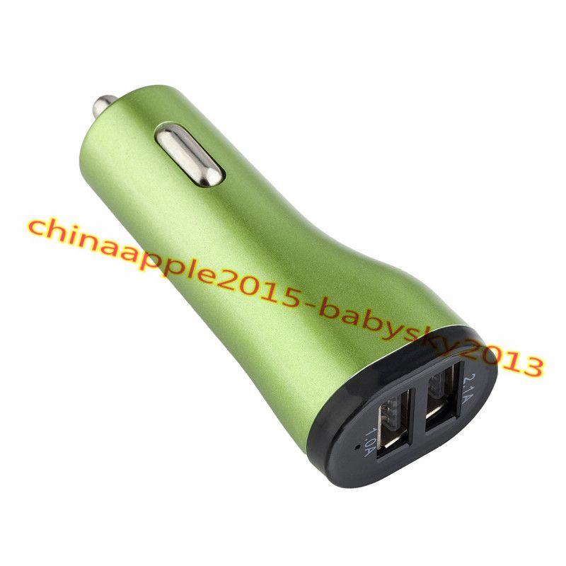 Cargador para automóvil Cigarette Lighter Splitter Adaptador con puertos USB dobles 2.1A cargadores para iphone ipad samsung galaxy s6 s7 edge teléfono android gps