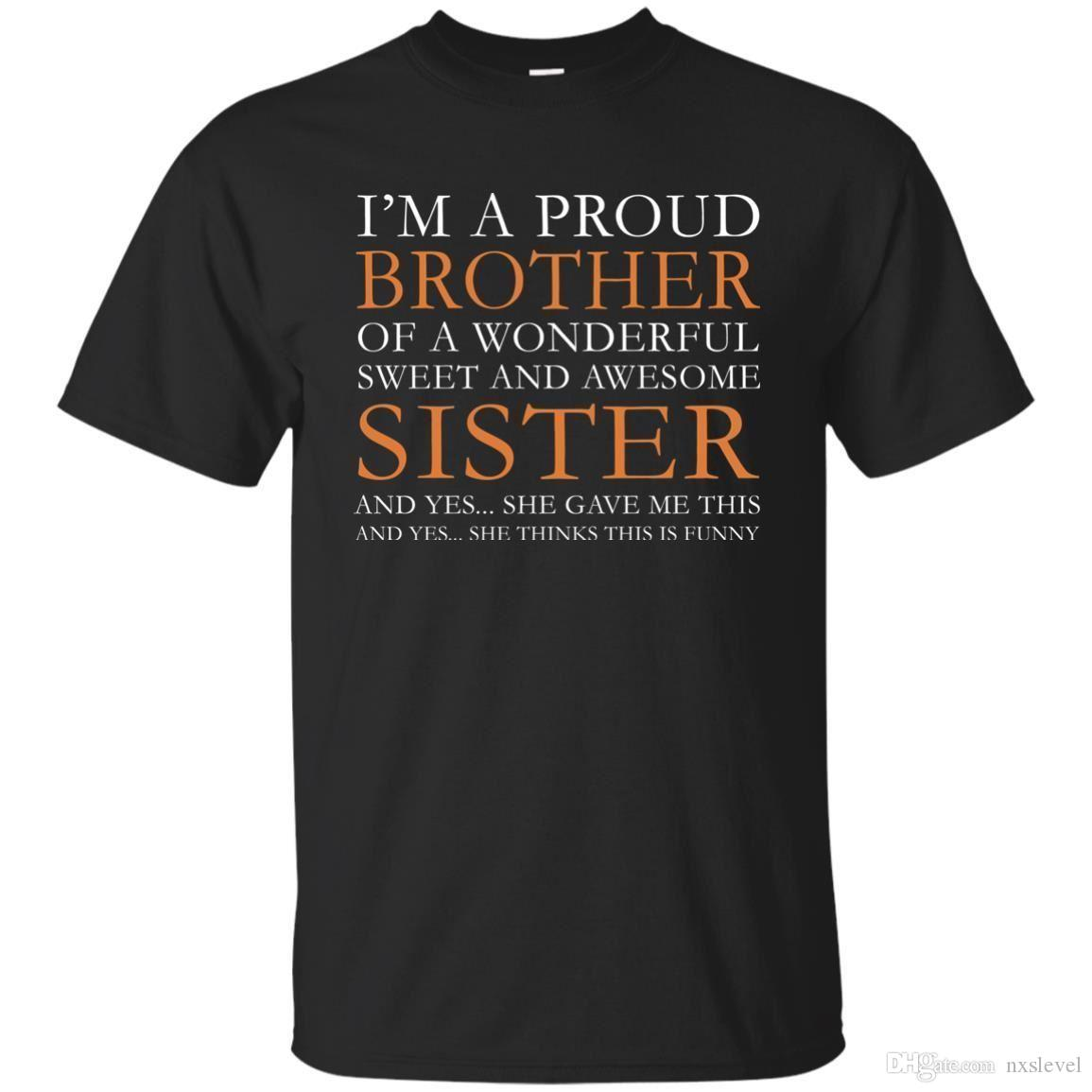 Gift For Brother From Sister Funny Birthday To Design Your Own T Shirts Womens Shirt Nxslevel 1021