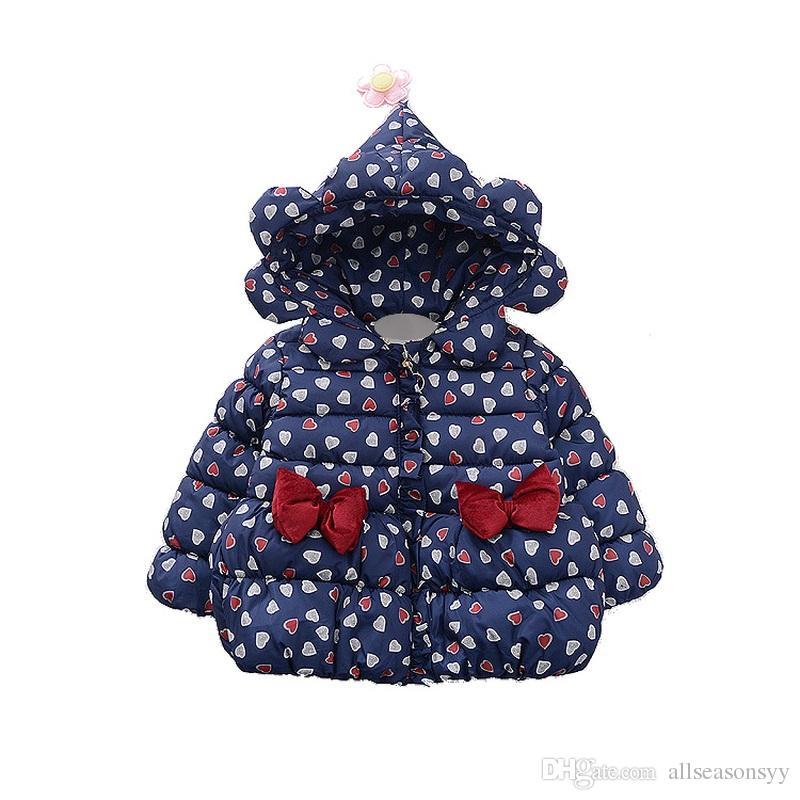 ea07d75084e2 Children Jackets Toddler Girls Coats Hooded Thick Autumn Winter Kids ...